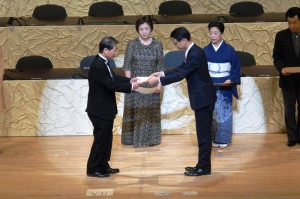awards ceremony of The 100th anniversary concert -1-